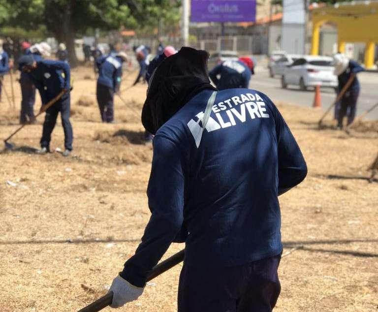 Egressos realizam limpeza de margens de rodovias estaduais através do projeto Estrada Livre